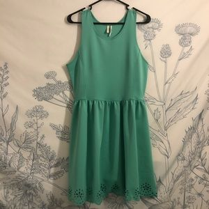 Nordstrom's teal dress